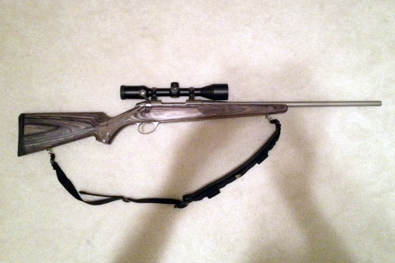 fs sako 85 hunter laminated stainless 338 federal w zeiss scope